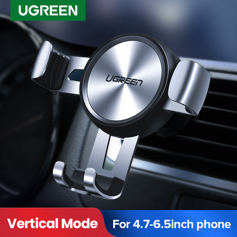 Ugreen Car Phone Holder for Mobile Smartphone Support In Car Cell Phone Stand for iPhone 11 Auto Vent Mount Gravity Holder Stand(China)