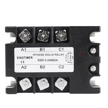 цена на Solid State Relay AC-AC SSR-3A4810A 25A 40A 60A 80A 100A 90-280VAC TO 30-480VAC Load Three Phase for Temperature Control