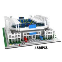 hot LegoINGlys creators city Street view La Liga Soccer team Field Malaga rose garden mini micro diamond building blocks toys
