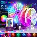 20 м возможностью погружения на глубину до 30 м 5050 WI-FI RGB светодиодный полоски светильник s Bluetooth Luces светодиодный светильник RGB SMD 2835 гибкий Водо...