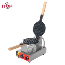 ITOP Commercial Electric Egg Cake Machine egg bubble waffle maker Eggettes puff cake Oven iron maker 110V/220V