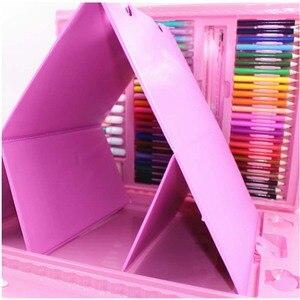 Детские Цветной карандаш художника комплект карандаш для рисования маркер для белой доски Кисти Набор инструментов для рисования детского...