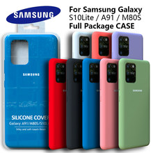 Galaxy S10Lite Case Original Samsung A91 Silky Silicone Cover High Quality Soft-Touch Back Protective Galaxy M80s S10 LITE