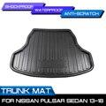 Автомобильный коврик для багажника  водонепроницаемые коврики  ковер  анти грязевой поднос  грузовой лайнер для Nissan Pulsar Sedan 2013-2018