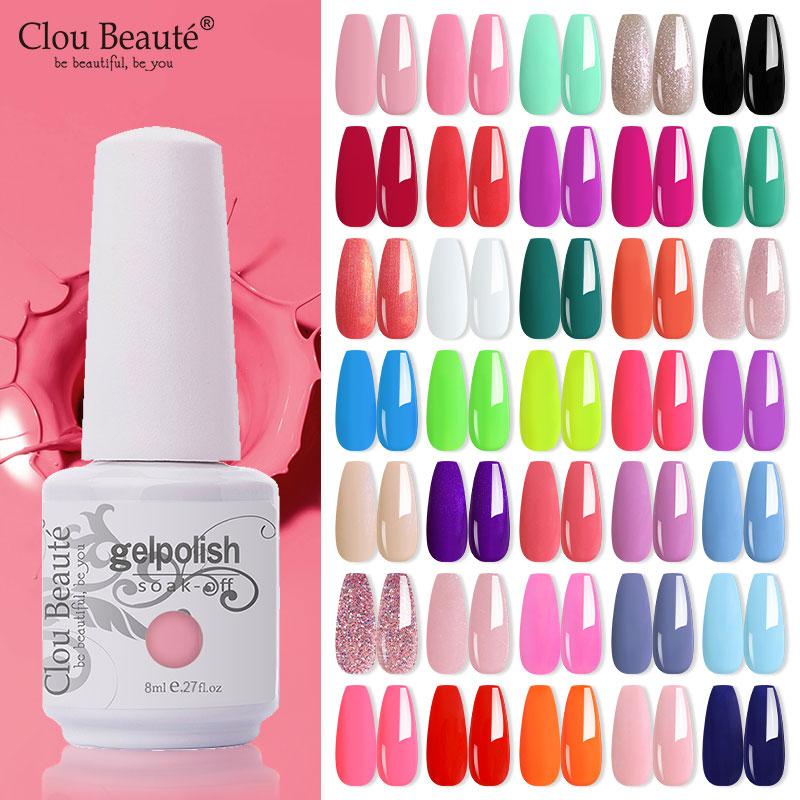 Clou beaute 8ml gel polonês verniz rosa puro série 115-cores novo uv gel unha polonês unhas arte manicure unhas semi permanente