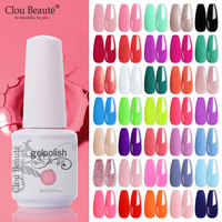 Clou Beaute-esmalte de Gel semipermanente, serie Rosa puro, 115 colores, esmalte de uñas de Gel UV para manicura y Arte para uñas, 8ML