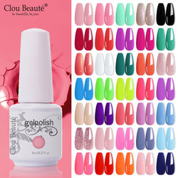 Clou Beaute 8ML Gel Polish Varnish Pure Pink Series 115-Colors New UV Gel Nail Polish Nails Art Manicure Nails Semi Permanent