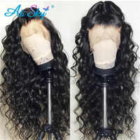 Alisky Brazilian Water Wave Wig 13*4 Lace Front Human Hair Wigs Pre Plucked Natural Hairline 180% Remy Hair Wigs Wholesale