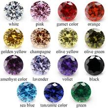 1PCS Per Colors Total 15pcs 5A Round Mix Color Cubic Zirconia CZ Loose Stones For Jewlery Diy недорого