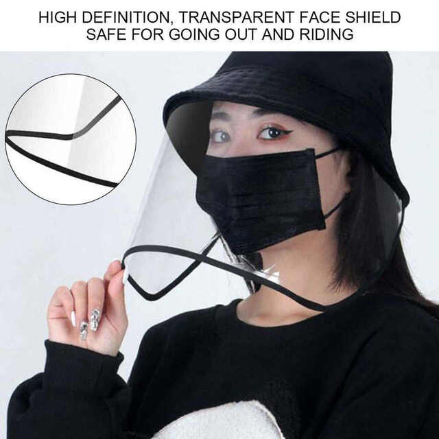 Protective Face Shield Protective Sunproof Fisherman's  Hats with Anti-Saliva Transparent Face Shield Protection Equipment 5