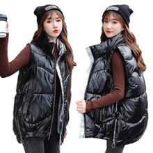 Moda inverno casaco feminino com capuz colete quente plus size doce cor algodão jaqueta feminina wadded feminino 2020
