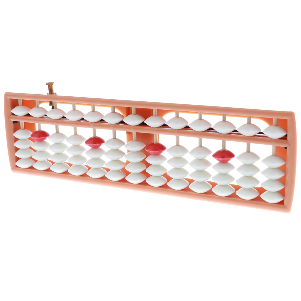 Ancient 13 Rows White Beads Chinese Abacus Arithmetic Number Counting Aid Tool Educational Mathematics Toy Maths Calculating