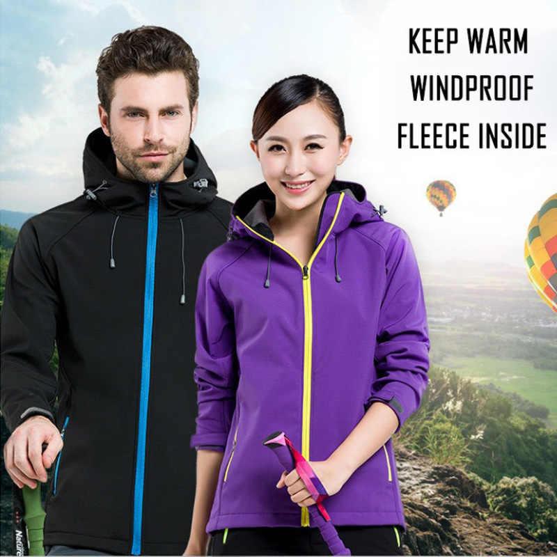 Jaqueta masculina jaqueta esportiva ao ar livre casaco de lã impermeável quente masculino caminhadas parkas softshell jaqueta à prova de vento