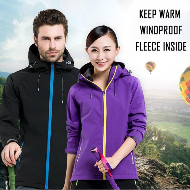 Top Men's Jacket Outdoor Sport Coat Men Women Warm Waterproof Fleece Windbreaker Male Hiking Parkas Softshell Jacket Windproof