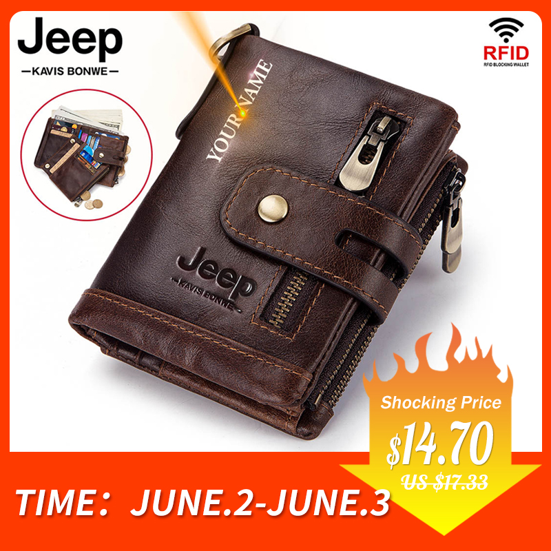 Free Engraving 100% Genuine Leather Men Wallet Coin Purse Small Mini Card Holder Chain PORTFOLIO Portomonee Male Walet Pocket|Wallets|   - AliExpress