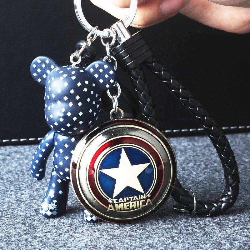 Key-Chain Hanging-Pendant Fighting Spider-Man Bear for Bag Charm Women
