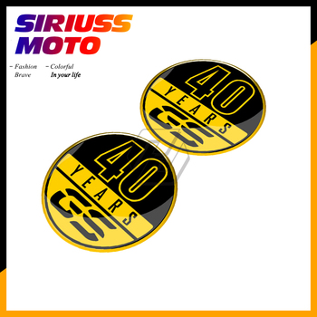 Motorcycle Tank Pad Sticker Case for BMW 40 Years GS Decals F700GS F800GS F850GS R1200GS R1250GS etc image