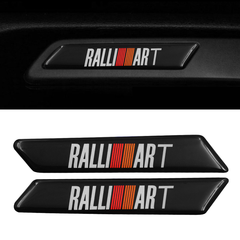 2pc 2019 Car <font><b>Sticker</b></font> Car decoration seat decal For RalliArt Mitsubishi Ralli Art <font><b>Lancer</b></font> <font><b>10</b></font> Asx Outlander Accessories Car-Styling image