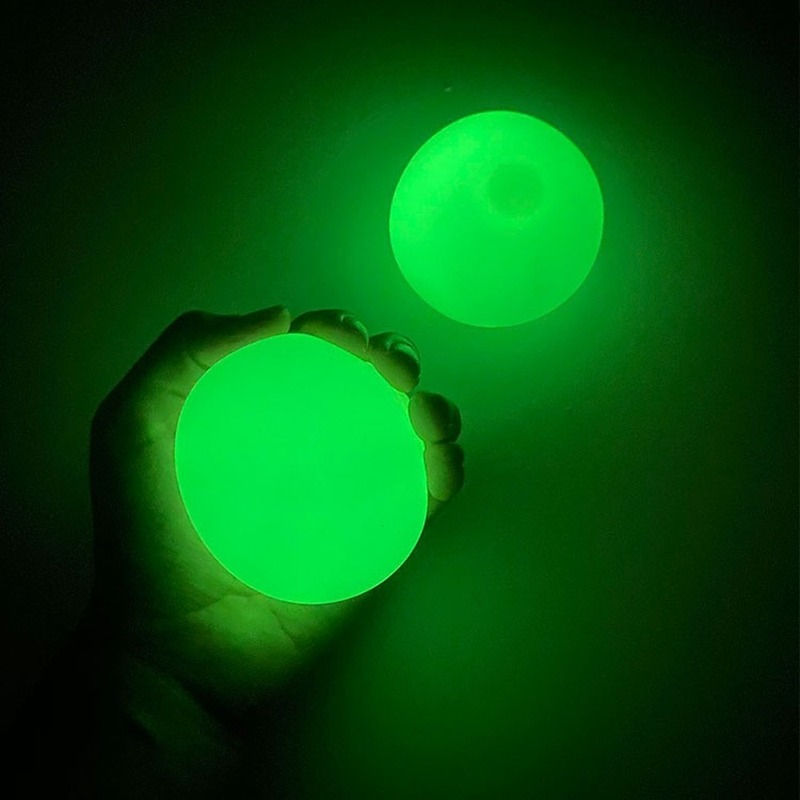 45mm luminescent Stiky Balls Throw At Ceiling Stick Wall Ball Sticky Target Squash Ball Globbles Balls Balle Kids Toys