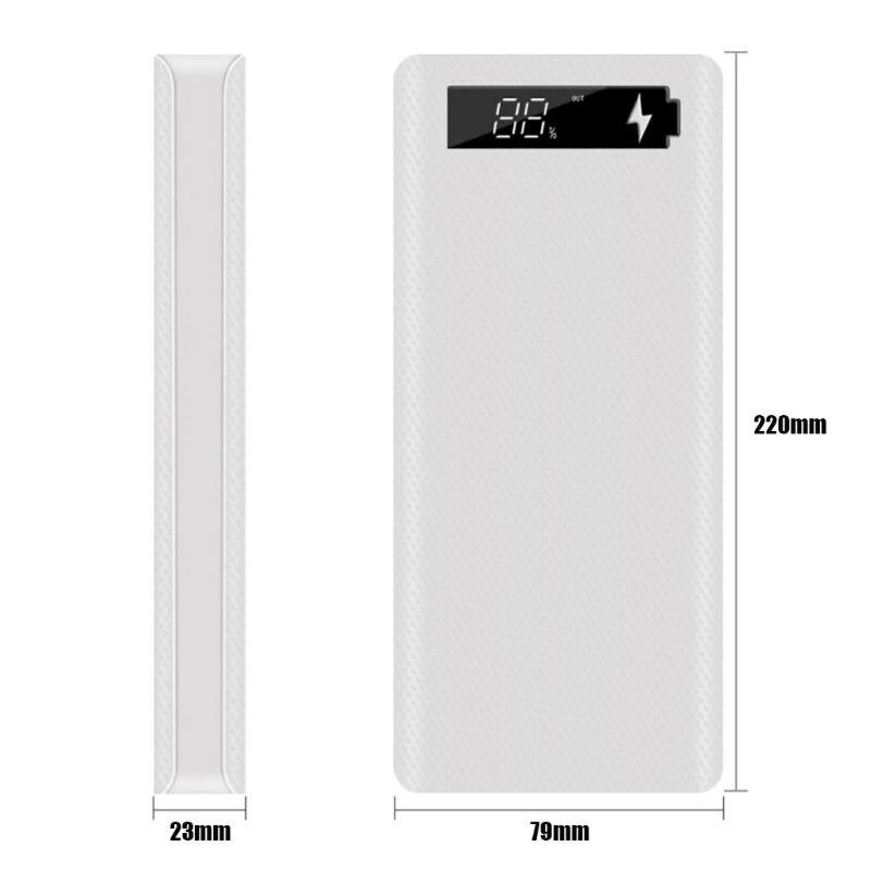 Tüketici Elektroniği'ten Pil Saklama Kutuları'de Lcd ekran DIY 10x18650 pil kutusu güç banka kabuk şarj cihazı aksesuarları title=
