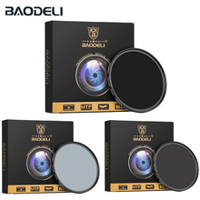 BAODELI Neutral Density Nd1000 Nd64 Nd8 Filter 49 52 55 58 62 67 72 77 82 Mm For Lens Camera Canon Nikon D5100 D5600 Sony Parts