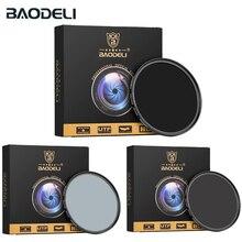 Baodeli Densità Neutra Nd1000 Nd64 Nd8 Filtro 49 52 55 58 62 67 72 77 82 Millimetri per La Camera Lens canon Nikon D5100 D5600 Sony Parti