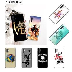 NBDRUICAI спортивный чехол для девочек для волейбола, черный мягкий чехол для телефона для Samsung Note 3 4 5 7 8 9 10 pro M10 20 30