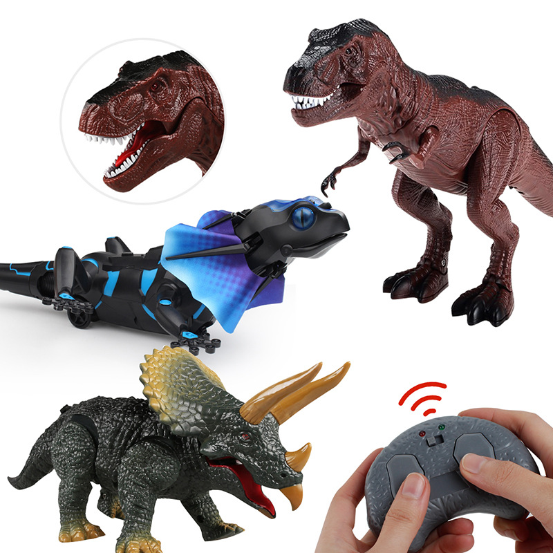 APRIL FOOL'S DAY Trick Infrared Model Electric T-Rex Children Plastic Model Toy Animals
