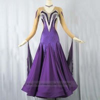 New Purple ballroom costumes of 2019 standard ballroom dancing dresses waltz flamenco dress costume dance costumes dancewear