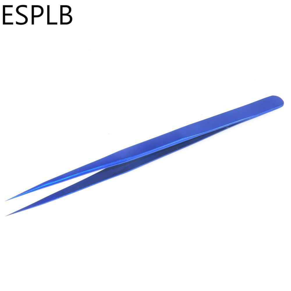 ESPLB رقيقة جدا سليم الملقط تحلق خط الأزرق الفولاذ المقاوم للصدأ حادة تصلب صناعة الملقط الهاتف المحمول إصلاح الأدوات اليدوية