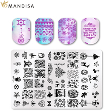 MANDISA 59 Style Nail Art Stamping Plate Template Lace Flower Leaf Butterfly Stencils
