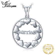 купить JewelryPalace 925 Sterling Silver Marriage Hollow Out Love Hearts Round Pendant Marry Love Eternal  Not Include A Chain по цене 343.24 рублей