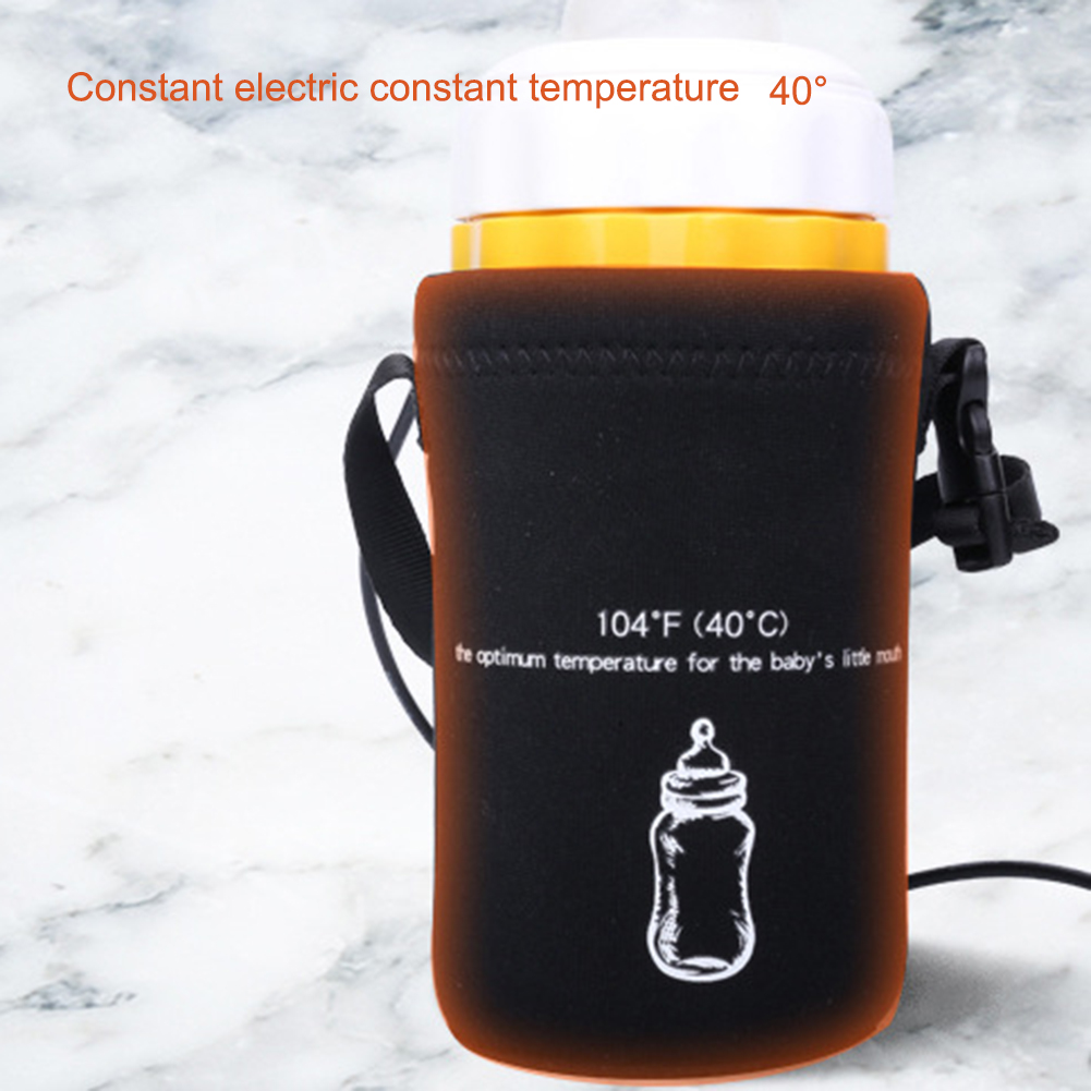Hot Sale Car USB Baby Bottle Warmer Portable Travel Milk Warmer Infant Feeding Bottle Heated Cover Insulation Thermostat Heater