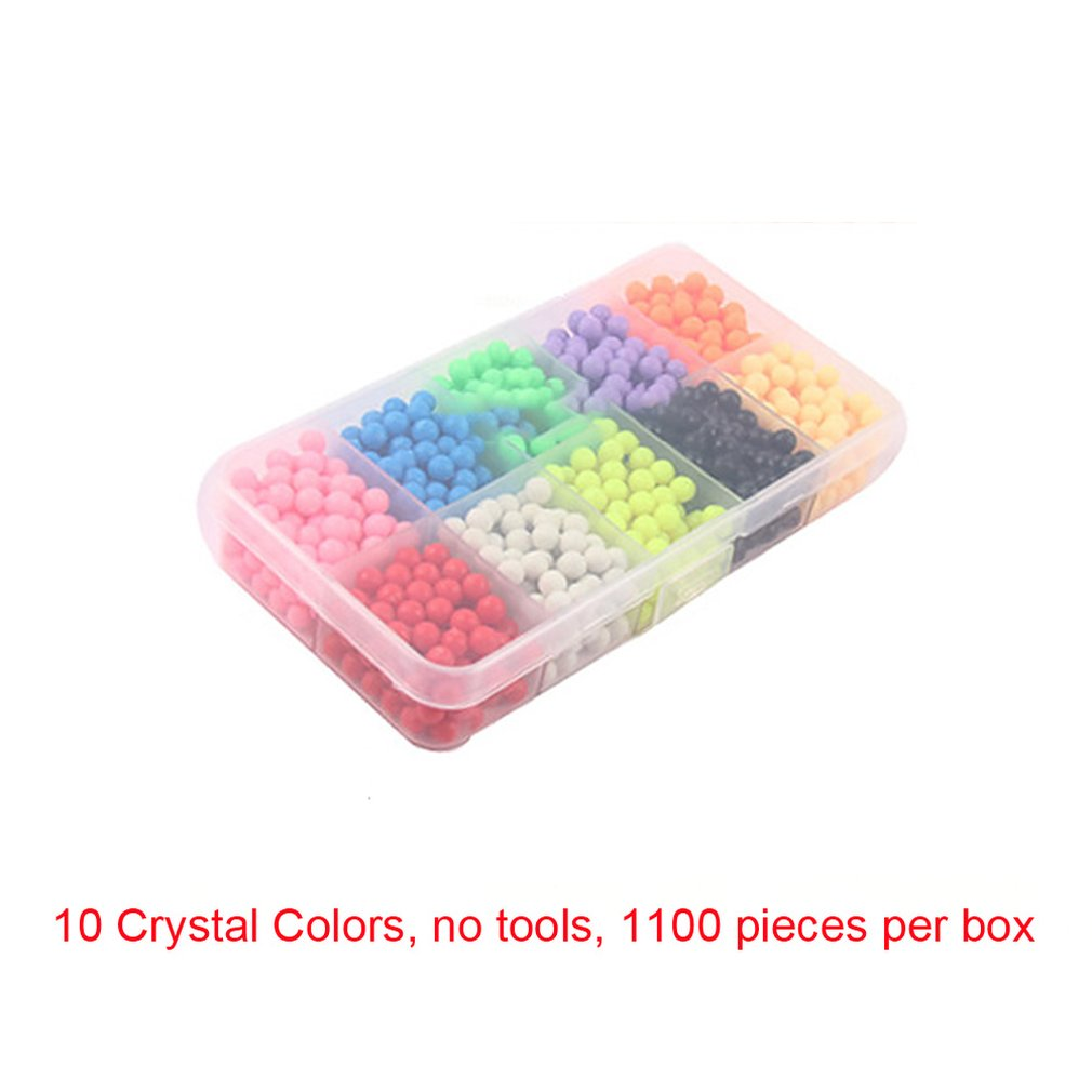 Children Magic Beads Spell Bean Handmade Diy Production Accessories Unique Puzzle Water Sticky Beads Puzzle Toy