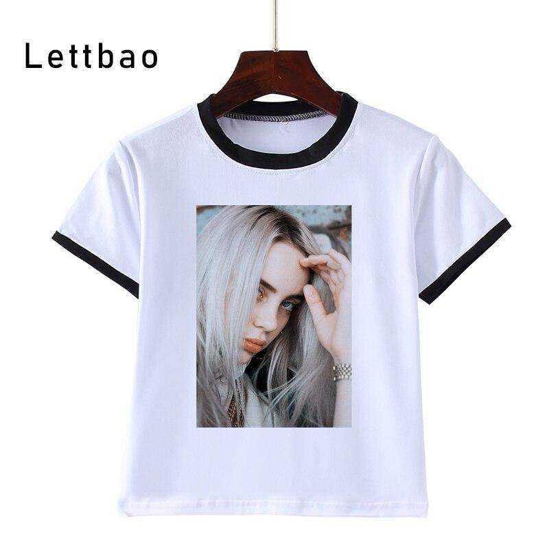 3-14T Kids Toothless Billie Eilish Print Fashion T Shirt WHITE T Shirt Children'S White Tee