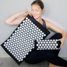 Acupressure Cushion Massager Mat Set Back Body Foot Pain Stress Relieve Spike Massage Acupuntura Pad Yoga Mat with Pillow