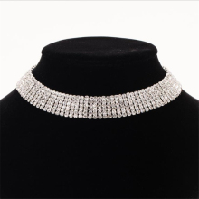 Ladyfirst Rhinestone Choker Crystal Luxury Collar Chokers Necklace Women Maxi Statement Jewelry women N305