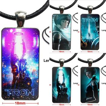 For Unisex Gift Tron Legacy Movies Fashion Necklace Handmade Rectangle Shape Choker Necklace Jewelry Multi Designs image