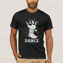 cotton O-neck printing fashion T shirt I Love To Line Dance Shirt Country Barn  Funny Tees Cotton Tops