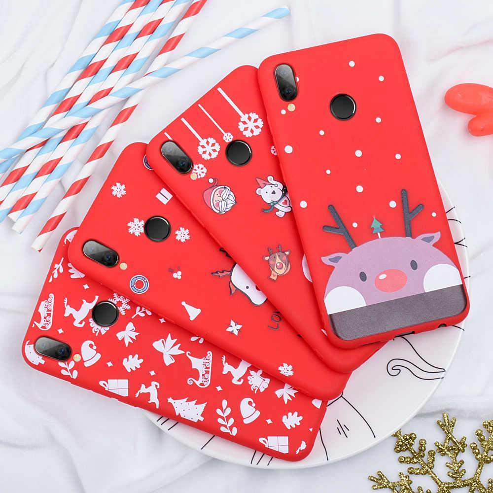 Мягкий ТПУ чехол для телефона для Xiaomi mi 8 9 se mi 9T Pro mi 9 t красный mi 7 K20 Pro Note 6 7 Pro Рождественский узор задняя крышка Fundas Coque