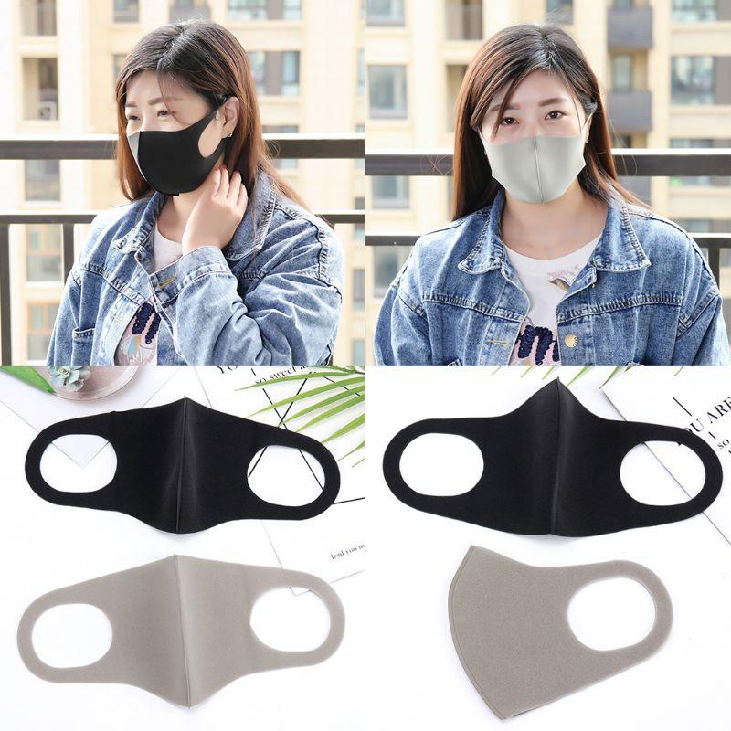 3Pcs/Set 3D Sponge Dustproof Mouth Mask Washable Anti Flu Pollution Respirator