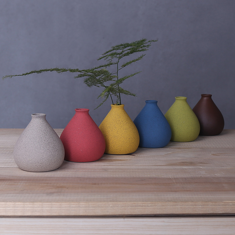 4.99US $  Creative home, small sized color flower vase, decorative arts and crafts in living room  v...