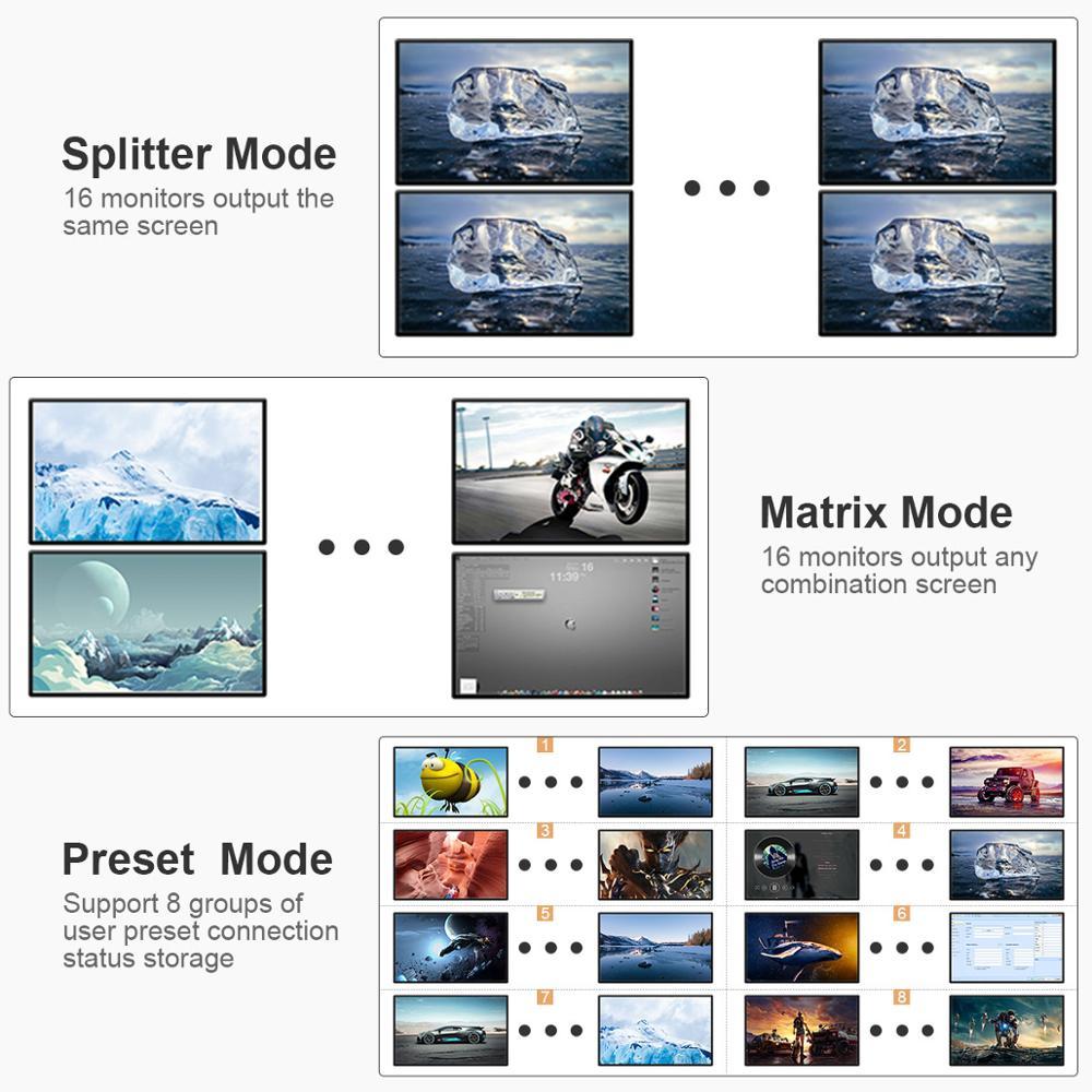 Купить с кэшбэком TEsmart 16x16 4K2K High Quality 16 in 16 out HDMI Matrix with RS232/LAN 2Pcs 2U Rack Ears Ultra HD 4K Full HD 1080P 3D
