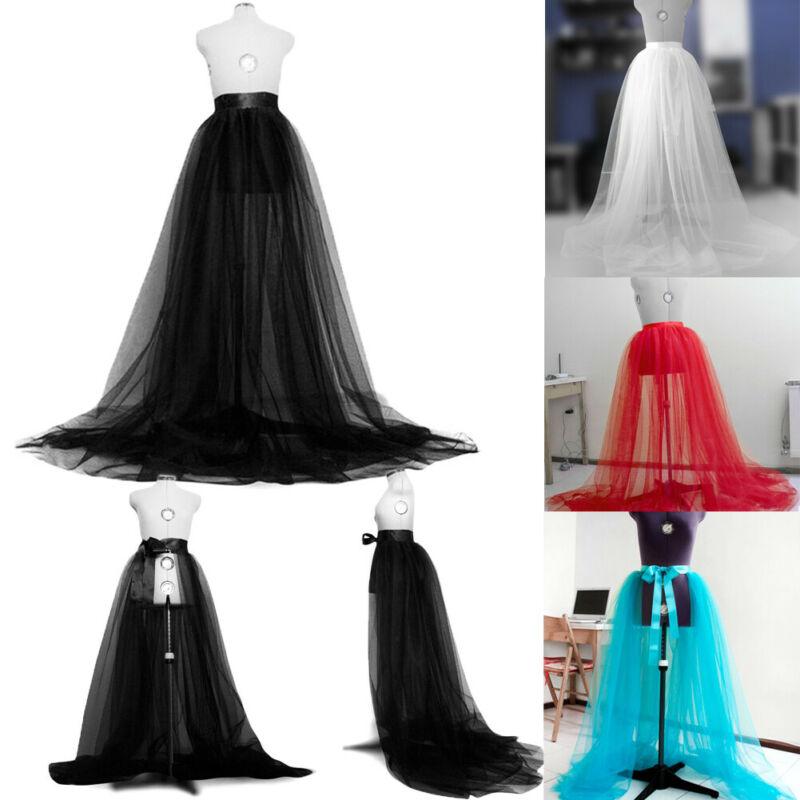 Women Wedding Party Skirt Elegant Tulle Tutu Long Skirt Wedding Party Prom Bandage Mesh Maxi Skirt Solid High Waist Skirts