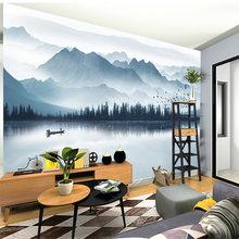 Пользовательские фото обои 3d горный холм речной воды озеро