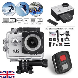 4K Action Camera WiFi Full HD 1080p Waterproof Underwater Video Recording Camera Sport Camera go extreme pro cam