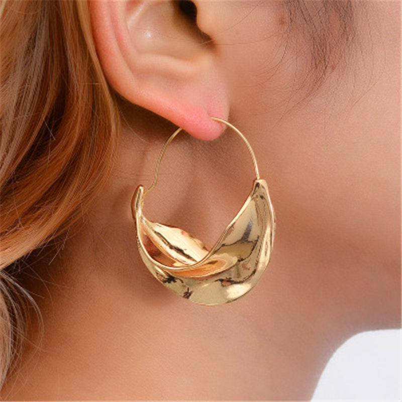 Creative Vintage Earrings Irregular Big Earrings Metal Exaggerated Dangle Drop Earring Fashion Statement Jewelry Gift Brincos
