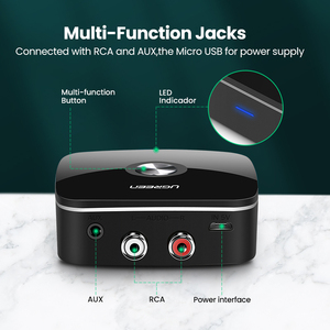Image 5 - UGREEN Bluetooth Receiver 5.0 Auidoเพลง 3.5 มม.RCA APTX LL Latencyต่ำบ้านเพลงสตรีมมิ่งเสียง 3.5 มม.2RCAอะแดปเตอร์