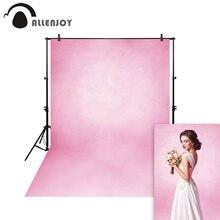 цена на Allenjoy Thin Vinyl cloth photography Backdrop Pink Computer Printing Background for Wedding Photo Studio Pure Color MH-027