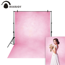 Allenjoy Thin Vinyl cloth photography Backdrop Pink Computer Printing Background for Wedding Photo Studio Pure Color MH-027